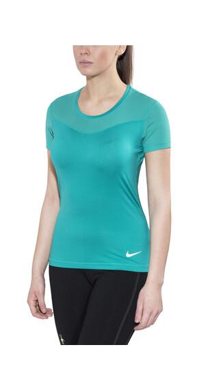 Nike Pro Hypercool Hardloopshirt korte mouwen Dames groen